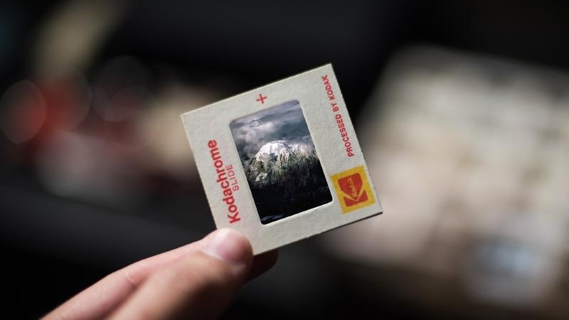 Kodachrome Dia im Rahmen