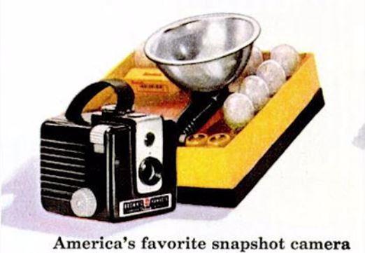 Kodak Brownie Hawkeye 35 Werbung