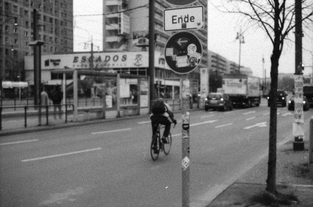Radfahrer auf der Alexanderstraße