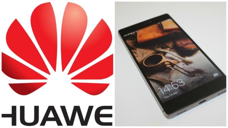 Ein Handy und Logo von Huawei