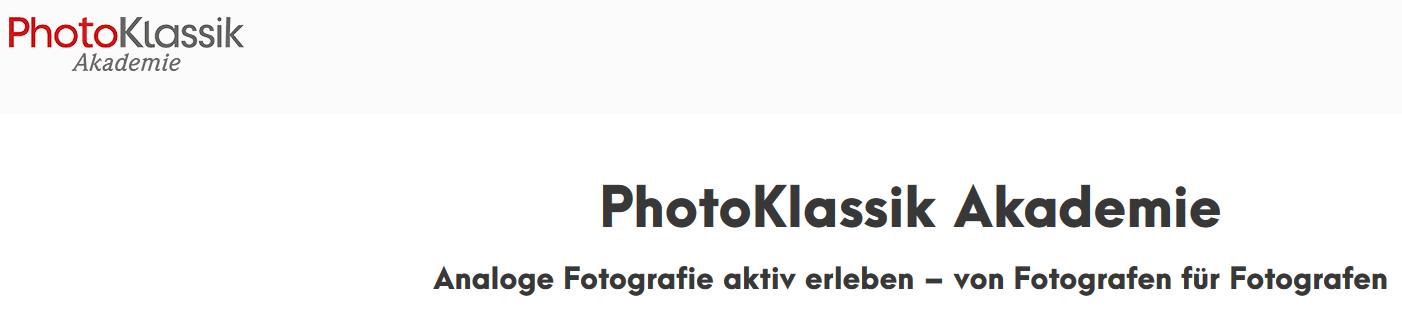 PhotoKlassik Akademie - Screenshot der Startseite