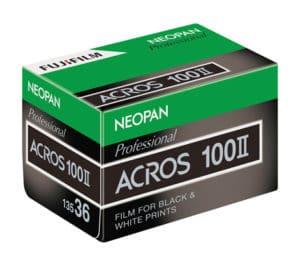 Fuji Acros II Film Verpackung