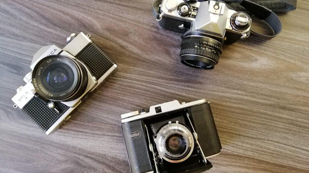 So sehen verschiedene analog Kameras aus.