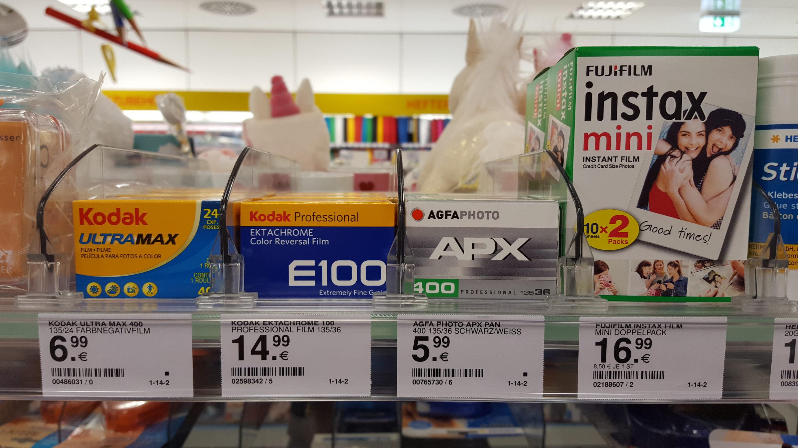 Filmregal im Müller Drogeriemarkt