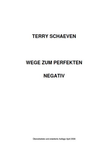 Wege zum perfekten Negativ