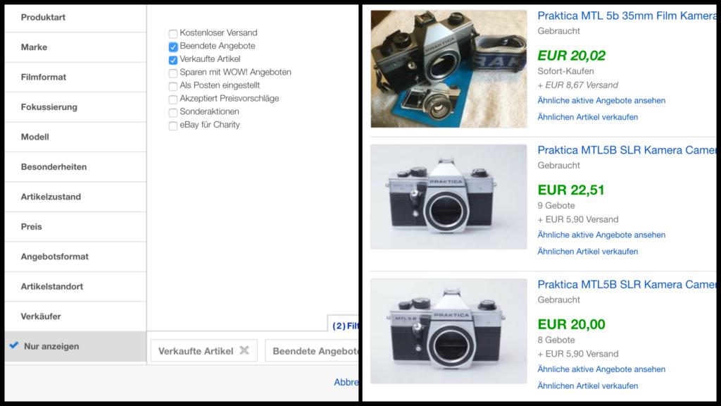 Erfolgreich analoge Kameras shoppen. Kein Problem mit ein paar Tricks!